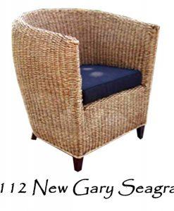New Gary Woven Seagrass Arm Chair