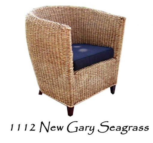 New Gary Woven Seagrass Arm Chair