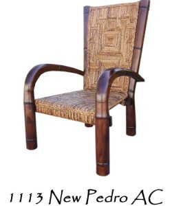 New Pedro Wicker Arm Chair