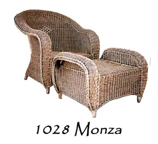 Monza rattan lazy chair with stool
