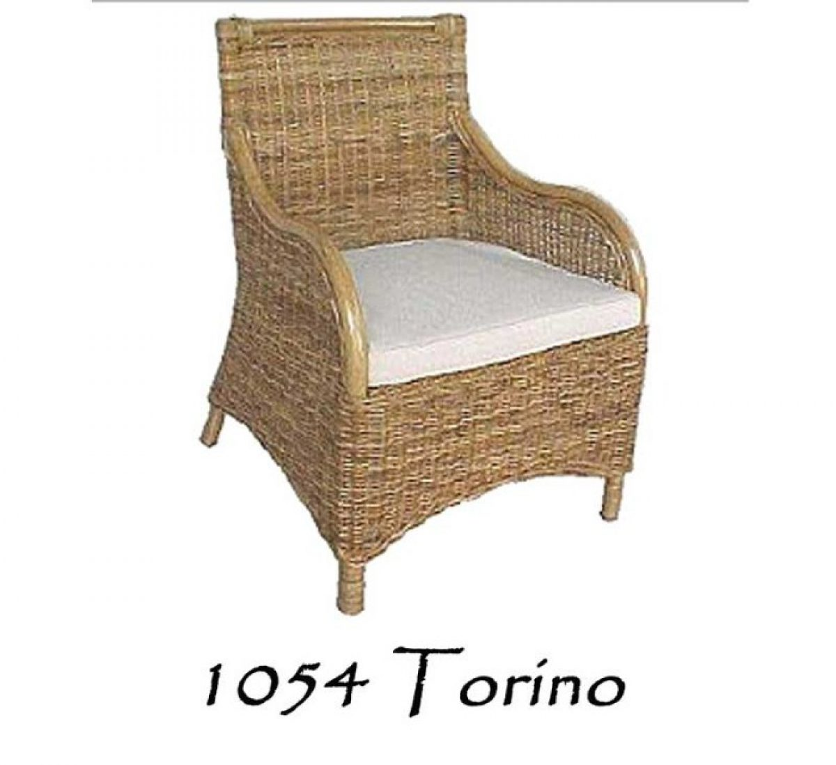 Torino Wicker Arm Chair Natural