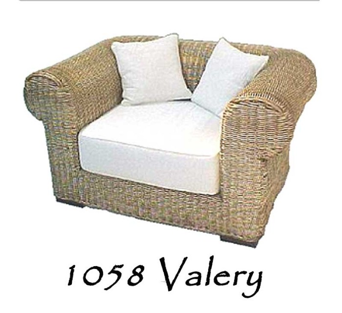Valery Wicker Arm Chair Natural