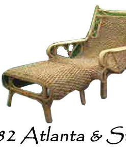 Atlanta Wicker Arm Chair and rattan Stool