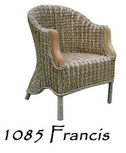 Francis Wicker Arm Chair