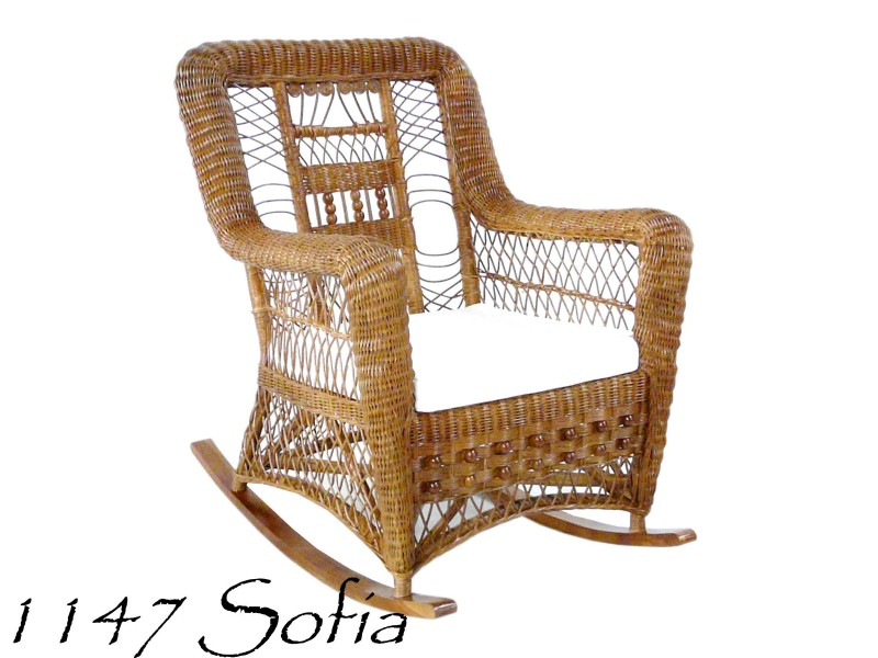 Peachy Sofia Rattan Rocking Chair Natural Rattan Furniture Spiritservingveterans Wood Chair Design Ideas Spiritservingveteransorg