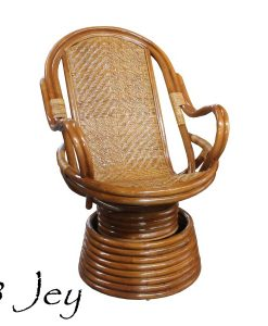 Jey Rattan Swivel Chair