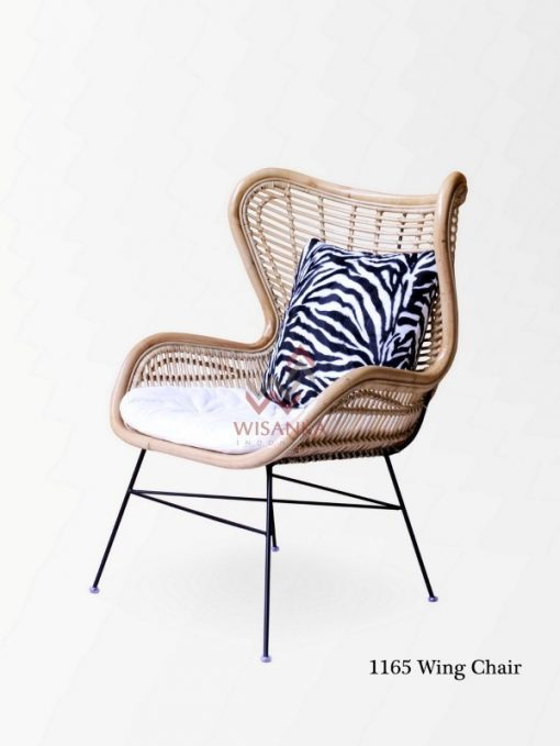 1165 Wing Rattan Chair