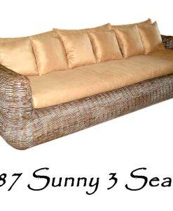Sunny Rattan Sofa 3 Seaters