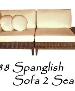 Spanglish Rattan Sofa 2 Seater