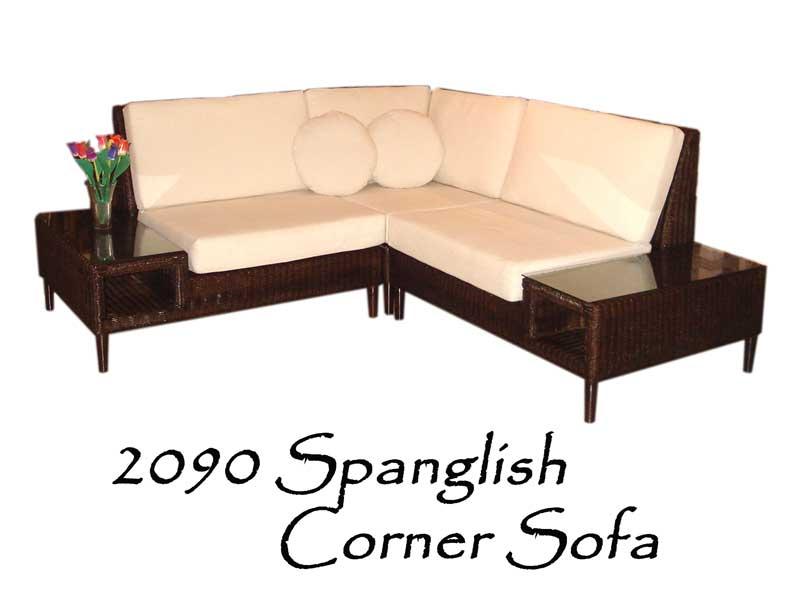 Spanglish Rattan Corner Sofa
