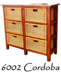 6002-Cordoba Wicker Wooden Drawer