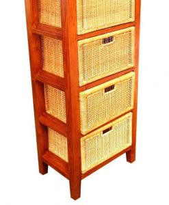 6006-Marco Wicker Wooden Drawer