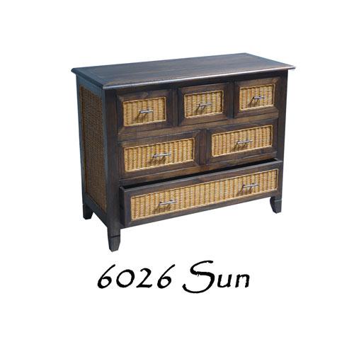 6026-Sun Wicker Wooden Drawer