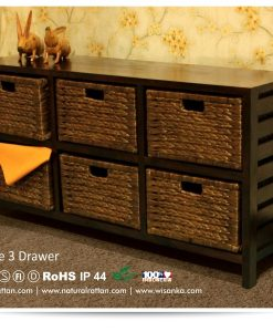 Jane 6 Wicker Drawers