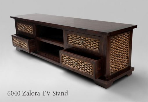Zalora Wicker Wooden TV Stand