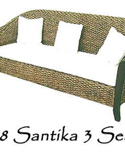 Santika Wicker Sofa 3 Seater