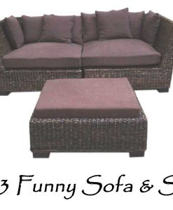 2083-Funny Wicker Sofa Stools