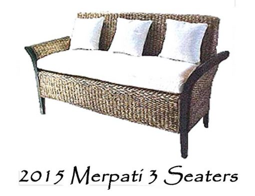 Merpati Wicker Sofa 3 Seater
