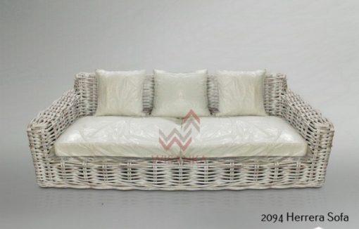 2094 Herrera Sofa 3 seater (CL White) (Custom)