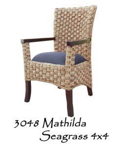 Mathilda Seagrass 4x4 Woven Chair
