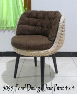 Pearl Rattan Dining Chair