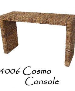 Cosmo Wicker Console Table