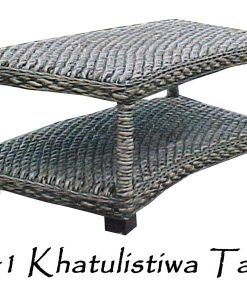 Khatulistiwa Wicker Table