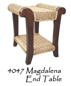 Magdalena Wicker End Table