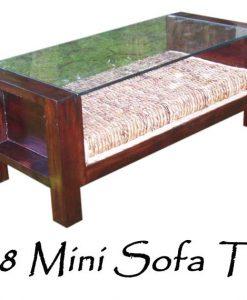 Mini Rattan Sofa Table