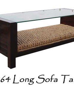 Long Rattan Sofa Table