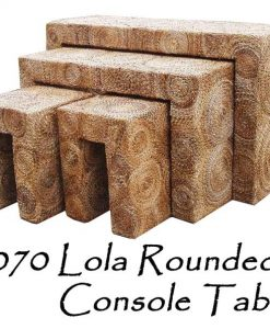 Lola Rounded Woven Console Table