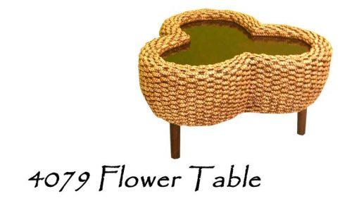 Flower Wicker Table