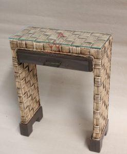 Luna Wicker Console Table
