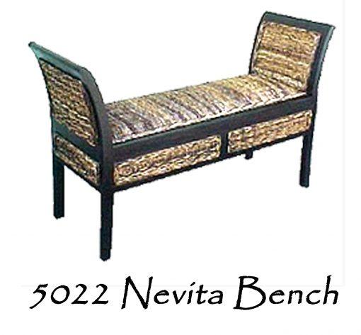 Nevita Wicker Bench