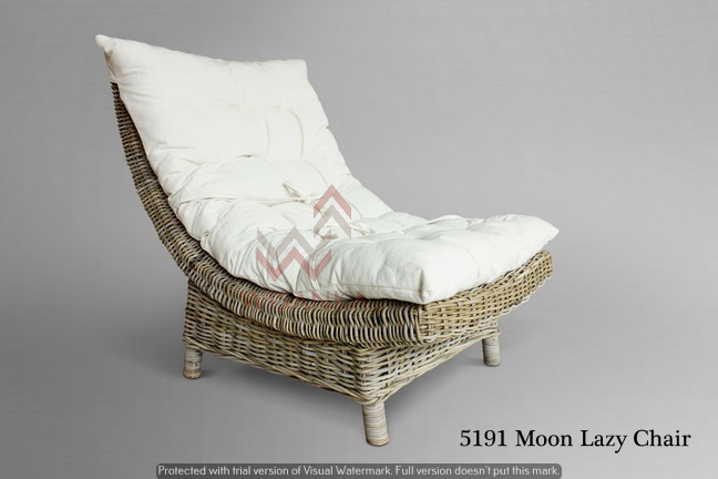 Moon Lazy Chair Natural Rattan Furniture Wicker Furniture