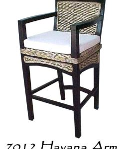 Havana Wicker Arm Bar stool