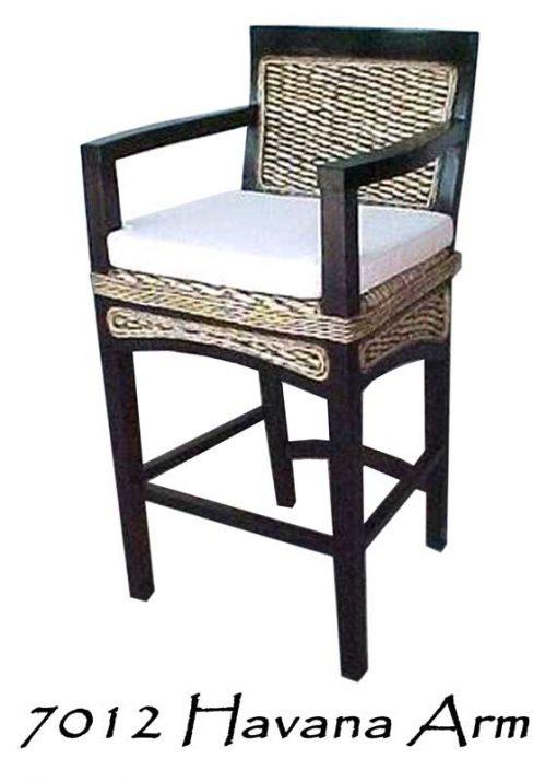 Havana Wicker Arm Bar stool