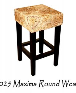 Maxima Round Weave Wicker Bar Stool