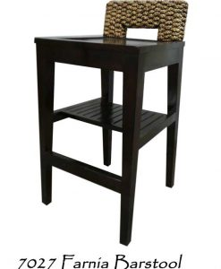 Fania Wooden Wicker Bar stool