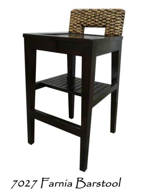 Fania Wooden Wicker Bar stool