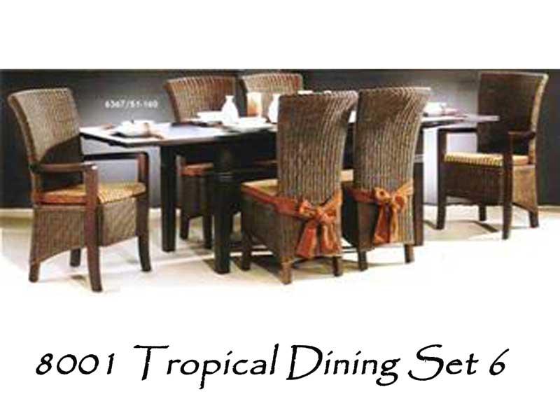 8001 Tropical Dining Set 6