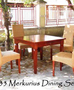 Merkurius Cane Dining Set 4