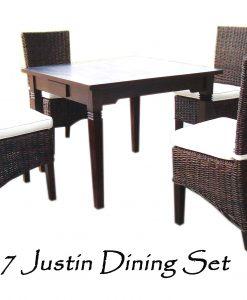 Justin Rattan Dining Set