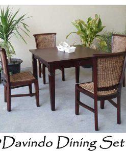 Davindo Rattan Dining Set