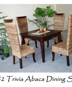 Trivia Abaca Woven Dining Set