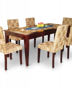 New Mike Rattan Dining Set 6