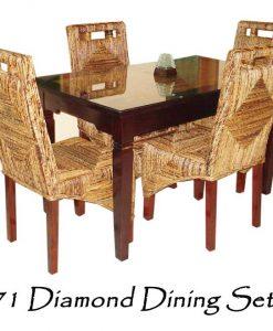 Diamond Wicker Dining Set