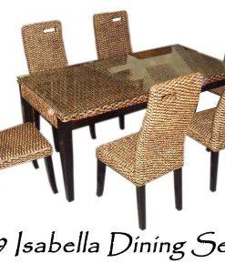 Isabella Wicker Dining Set 6
