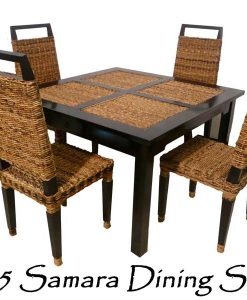 Samara Wicker Dining Set