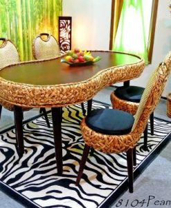 Peanut Wicker Dining Set